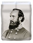 Stonewall Jackson Confederate General Portrait Duvet Cover by Anonymous