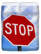 Stop Sign Ireland Duvet Cover by The Irish Image Collection