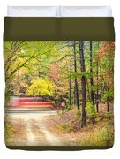 Stop - Beaver's Bend State Park - Highway 259 Broken Bow Oklahoma Duvet Cover by Silvio Ligutti