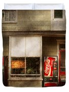 Store Front - Waterford Va - Waterford market  Duvet Cover by Mike Savad