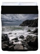 Storm At Gulliver's Hole Duvet Cover by Marty Saccone