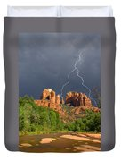 Storm Over Cathedral Rock Duvet Cover by Alexey Stiop
