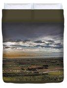 Storm Over Emmett Valley Duvet Cover by Robert Bales