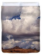 Storm Over Monument Valley Duvet Cover by Janice Rae Pariza