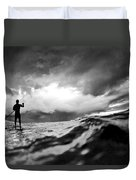 Storm paddler Duvet Cover by Sean Davey