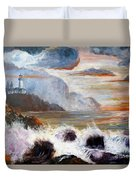Stormy Sunset Duvet Cover by Lee Piper