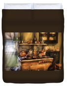 Stove - What's For Dinner Duvet Cover by Mike Savad