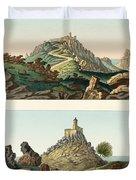 Strange abbeys in Portugal Duvet Cover by Splendid Art Prints