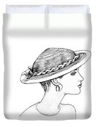 Straw Hat Duvet Cover by Sarah Parks