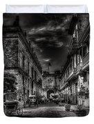 Streets Of Havana Bw Duvet Cover by Erik Brede