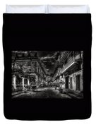 Streets Of Havana Bw Duvet Cover by Erik Brede