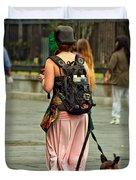 Strolling In Jackson Square Duvet Cover by Steve Harrington