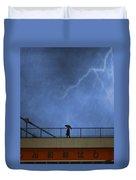 Strolling In The Rain Duvet Cover by Juli Scalzi