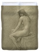 Study For Lilith Duvet Cover by Robert Fowler