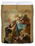 Study For The Assumption Of The Virgin Duvet Cover by Jean Baptiste Deshays de Colleville