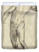 Study for The Last Judgement  Duvet Cover by Michelangelo  Buonarroti