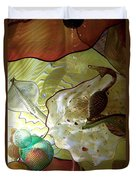 Subtle Colors In Glass Duvet Cover by Eunice Miller