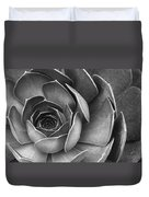 Succulent In Black And White Duvet Cover by Ben and Raisa Gertsberg