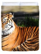 Sumatran Tiger 5D27142 Duvet Cover by Wingsdomain Art and Photography