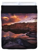 Summer Dells Sunset Duvet Cover by Peter Coskun