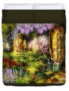 Summer - I Found The Lost Temple  Duvet Cover by Mike Savad