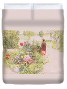 Summer In Sundborn Duvet Cover by Carl Larsson