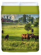 Summer On The Farm Duvet Cover by Bill  Wakeley