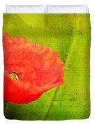 Summer Poppy Duvet Cover by Darren Fisher