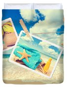 Summer Postcards Duvet Cover by Amanda And Christopher Elwell