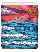 Summer Vibes Duvet Cover by Susan Claire