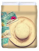 Summertime Postcards Duvet Cover by Amanda And Christopher Elwell