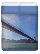 Sun Beams Through The Golden Gate Duvet Cover by Scott Campbell
