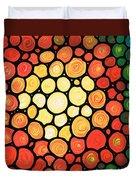 Sunburst Duvet Cover by Sharon Cummings