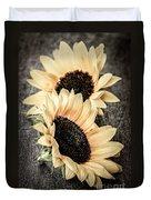 Sunflower Blossoms Duvet Cover by Elena Elisseeva