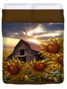 Sunflower Dance Duvet Cover by Debra and Dave Vanderlaan
