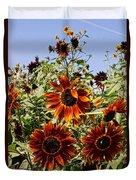 Sunflower Layers Duvet Cover by Kerri Mortenson