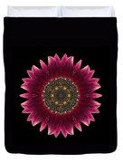 Sunflower Moulin Rouge I Flower Mandala Duvet Cover by David J Bookbinder
