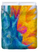 Sunflower Profile Impressionism Duvet Cover by Heidi Smith