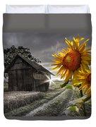 Sunflower Watch Duvet Cover by Debra and Dave Vanderlaan