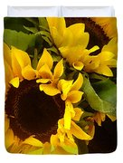 Sunflowers Duvet Cover by Amy Vangsgard