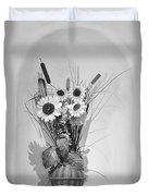 Sunflowers In A Basket Duvet Cover by Christine Till