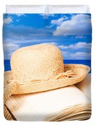 Sunhat In Sand Duvet Cover by Amanda And Christopher Elwell