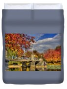 Sunkissed Lagoon Bridge Duvet Cover by Joann Vitali
