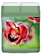 Sunlit Miniature Orchid Duvet Cover by Kaye Menner