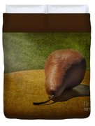Sunlit Pear Duvet Cover by Susan Candelario