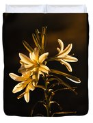 Sunrise Ajo Lily Duvet Cover by Robert Bales