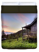 Sunrise At Mt Leconte Duvet Cover by Debra and Dave Vanderlaan