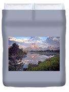 Sunrise At Oxbow Bend 4 Duvet Cover by Marty Koch