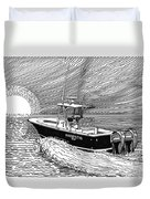 Sunrise Fishing Duvet Cover by Jack Pumphrey