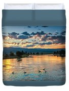 Sunrise On The North Payette River Duvet Cover by Robert Bales